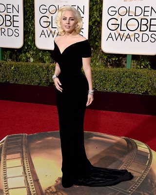 Lady Gaga Pulls a Marilyn Monroe at the Golden Globes