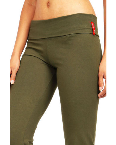 Yoga Womens Fitness Foldover Stretch Gym Casual Comfy Soft Lounge Pants S M L
