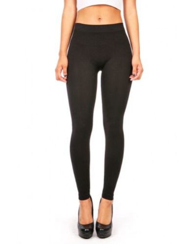 Skinny Stretchy Pants Soft Long Leggings Lycra Slim Spandex Capri Seamless Tight