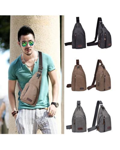 Men's Military Canvas Satchel Shoulder Bag Messenger Bag Travel Hiking Backpack