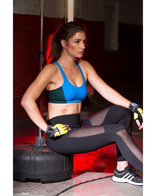 Women's Mesh Leggings Yoga Gym Piper Motion w/Pocket Trousers Black