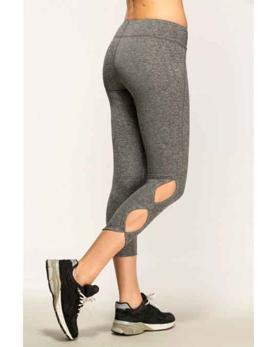 WOMEN'S LEGGINGS GYM YOGA PANTS STRETCH TROUSERS MOTION ALMOND CUT (AL0002)