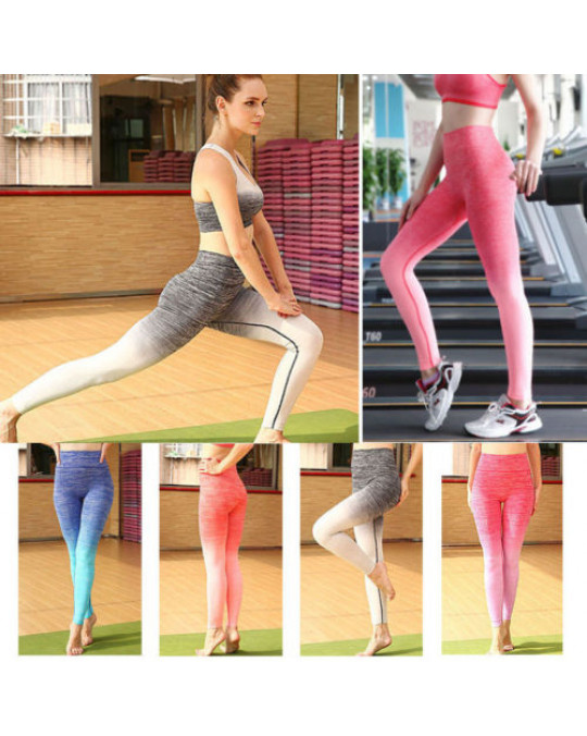 Womens Leggings YOGA Workout Athletic Gym Sports Pants Fitness Stretch Trousers