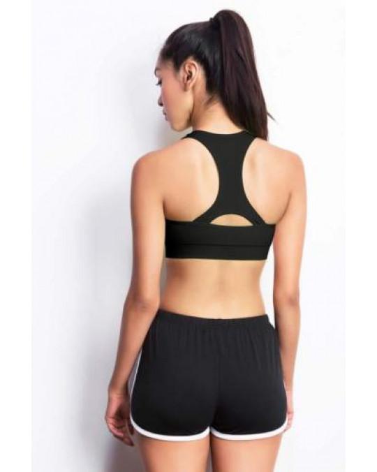 Basic Women Sports Bra Athletic Fitness Gym Yoga Stretchy Bras Crop Top Stretch